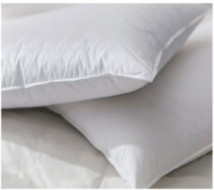 Nice White and Grey Duck Down Feather Pillow