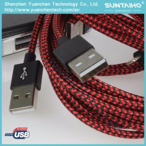 High Speed Nylon Braided USB Cable to Lightning Cable pictures & photos