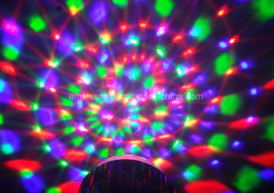 3W RGB Crystal Magic Rotating Ball Remote Control LED Magic Ball Lights for KTV Xmas Party Club Pub Disco DJ pictures & photos