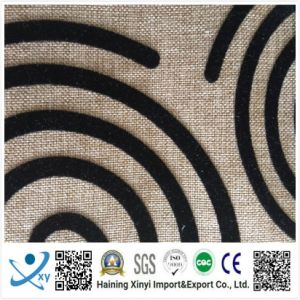 New Style Flocking Fabric for Sofa and Furniture pictures & photos