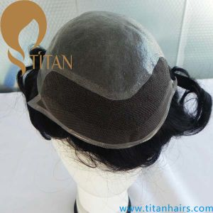 Thin Skin Toupee French Lace Front Toupee pictures & photos