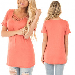 Fashion Women Leisure Loose Casual T-Shirt Clothes Blouse pictures & photos