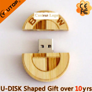 Personalized Car Logo Gifts Wood USB Pendrive (YT-8140) pictures & photos