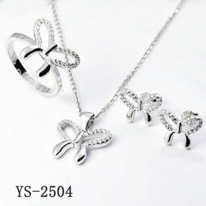 Fantasy Jewelry 925 Silver Simple Styles Butterfly CZ Sets pictures & photos