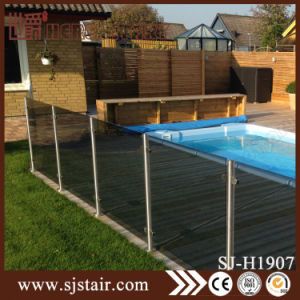 Exterior Wall Mounted Terrace & Balcony Stainless Steel Balustrade Railings with Glass (SJ-H3027) pictures & photos