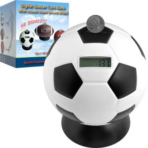 Trademark Games Soccer Ball Digital Coin Counting Bank pictures & photos