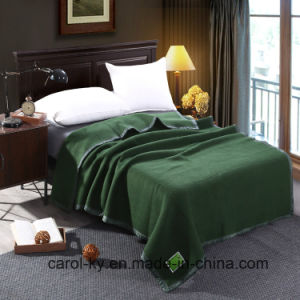 Military Hotel Oliver Green Wool Blanket pictures & photos
