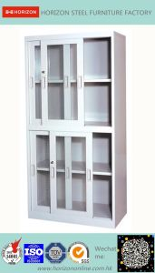 Documents Cabinet with Upper & Lower Sliding Doors File Cabinet pictures & photos