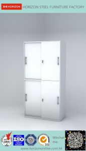 Documents Cabinet with Upper & Lower Sliding Doors File Cabinet