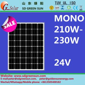 24V Mono Solar Panel 210W - 230W with Postive Tolerance pictures & photos