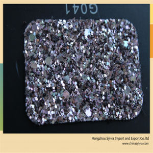 Shoe Upper Leather Glitter Lether pictures & photos