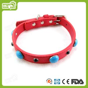 High Quality Leather with Samll Decorative Jewelry Dog Collar, Pet Product pictures & photos