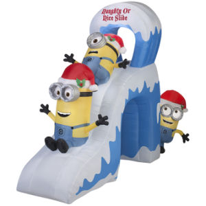 Holiday Party Christmas Game Inflatable Minion Slide Decoration pictures & photos