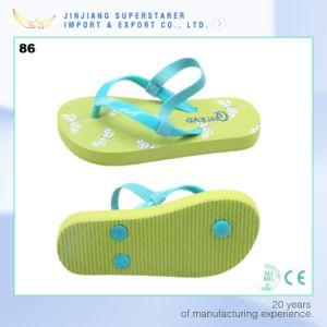 Summer Beach Children Slipper PE Flip Flop with Back Strap pictures & photos