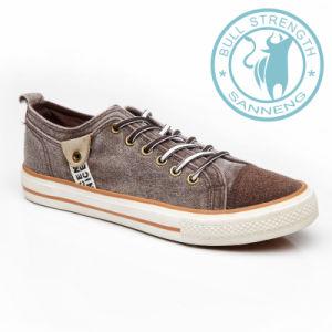 Men Shoes Canvas Shoes Rubber Outsole Sneaker (SNC-011327) pictures & photos