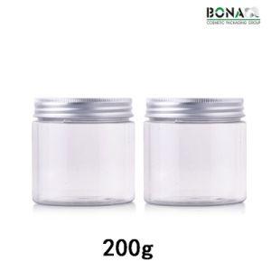 200g Pet Clear Jar with Aluminum Cap pictures & photos