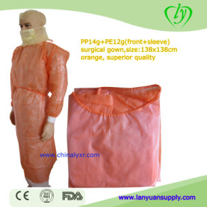 Orange Disposable Hospital Isolation Gowns Custom Sizes pictures & photos