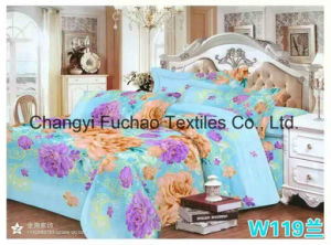Poly-Cotton Full Size High Quality Lace Home Textile Bedding/Bed Sheet pictures & photos