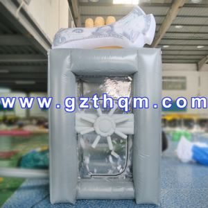 Portable Cash Grab Booth Inflatable Money Blowing Machine pictures & photos