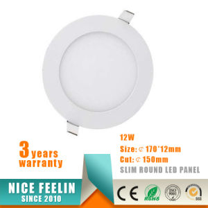 Ultra Thin Round LED Panel Light 12W AC85-265V pictures & photos