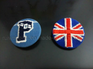Embroidery Button Pin Badge for Promotion, Embroidery Badge pictures & photos