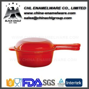 Manufacturer Non Stick Portable Iron Cast Enamel Saucepan pictures & photos
