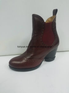 Lady Leather Elegant Pointed of England Ankle Boots pictures & photos