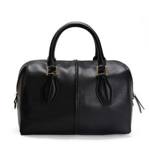 Black Color Boston Bag Factory Direct Designer Handbag