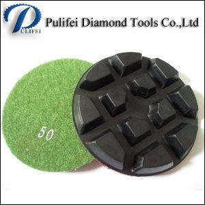 "4""/100 Diamond Resin Dry Concrete Polishing Pad"