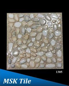 """12X12"""" 5D Polished Crystal Pebbles Floor Tile 1305"""