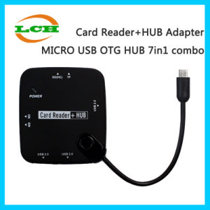 Hotselling Micro USB OTG Hub 7in1 Adapter for OTG Phone pictures & photos