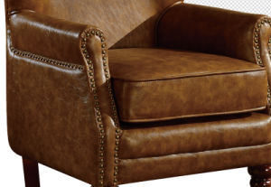 Latest Sofa Design for Living Room Upholstery Leather Armchair pictures & photos