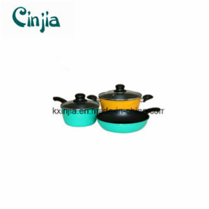 Nonstick 5PCS Forged Cookware Set Casserole Milk Pot with Lid pictures & photos