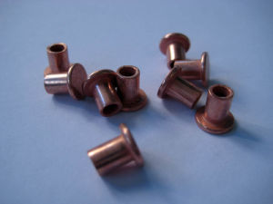 Semi Hollow Copper Rivets 6X10mm