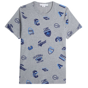 New Men Fashion T-Shirts Cotton Printed Round Neck T-Shirts pictures & photos