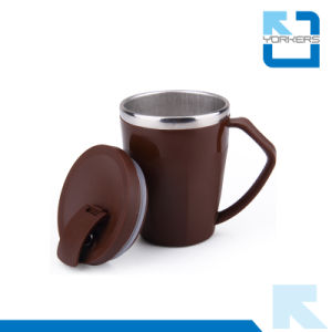 Korean 304 Stainless Steel Coffee Mug with PP Lid pictures & photos