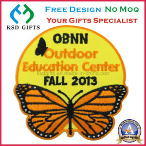 Hot Cut Edge Butterfly Design No MOQ Embroidery Patch/Emblem No MOQ at Factory Price pictures & photos