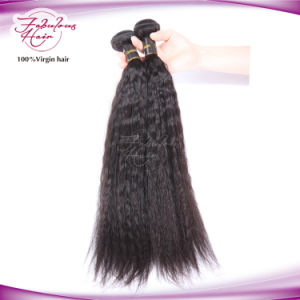 Christmas Human Hair Black Women Yaki Straight Remy Hair pictures & photos