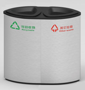 Hot Selling Dustbin with Stainless Steel Material (HW-507B) pictures & photos