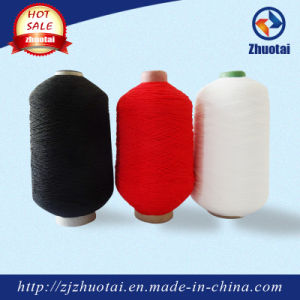 Latex Rubber Double Covered Polyester Yarn for Hosiery pictures & photos