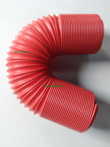 Red 3in Flexible Pipe Universal for Auto Air Intake Pipe Filter pictures & photos