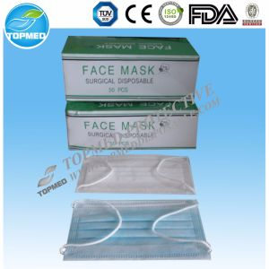 3-Ply Non-Woven with Ear-Loop Disposable Surgical Face Mask pictures & photos