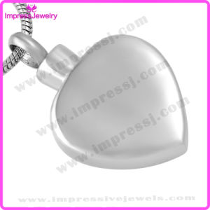 Pendants for Ashes Stainless Steel Heart Pendants with Checkered Pattern Ijd9648 pictures & photos