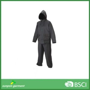 Durable Clear Plastic Rain Suit for Workers pictures & photos
