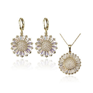Wholesale Sunflower Design Jewelry Set for Women Chirstmas Gift pictures & photos
