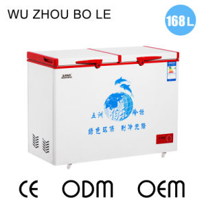 2016 New Products Double Temperature Top Open Double Door Chest Freezer