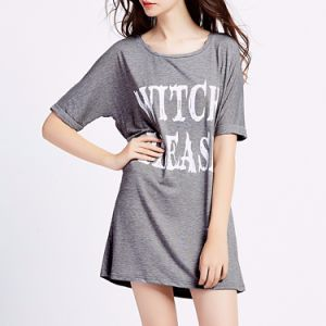 Wholesale Lady′s Cotton Printing Casual T-Shirt pictures & photos
