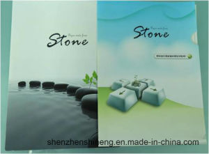 Environmental Friendly Stone Paper (RBD-300um) Rich Mineral Board Double Coated pictures & photos