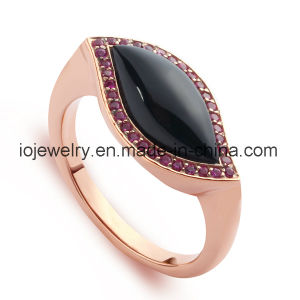 High End 316 Stainless Steel Ring with Agate pictures & photos