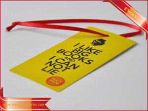 Christmas Paper Tag Gold Printed Garment Paper Hang Tag pictures & photos